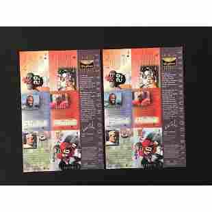 Two 1995 Skybox Premium Football Uncut Sheets