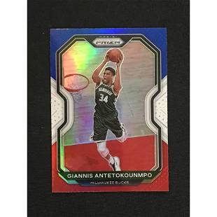 2021 Prizm Red White And Blue Giannis Mint