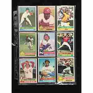 9 1976 Topps Baseball Stars/hof