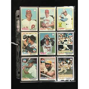 9 1978 Topps Baseball Stars/hof