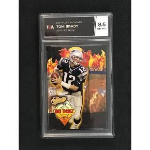 2004 Fleer Authentix Tom Brady Hot Ticket Tga 8.5