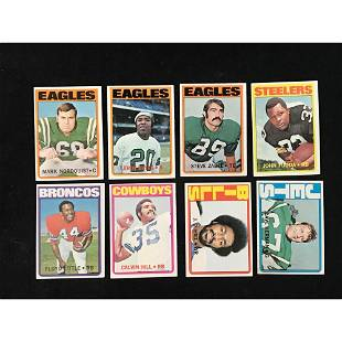 233 1972 Topps Football Cards