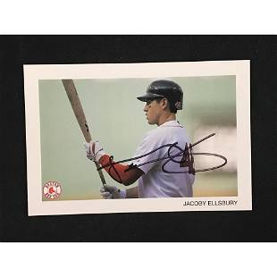 Jacoby Ellsbury Signed 4x6 Card