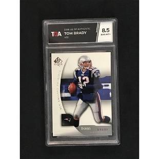 2005 Ud Sp Authentic Tom Brady Tga 8.5 Nm-mint+