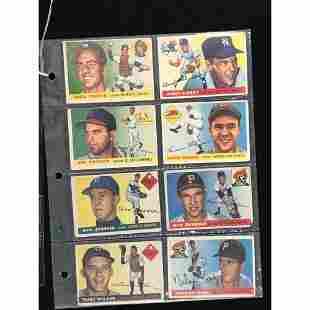 16 1955 Topps Baseball Cards