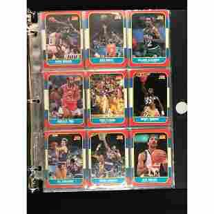 45 1986 Fleer Basketball Cards Near Mint/mint