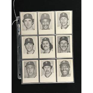 23 1979 Red Sox B&w Vendor Cards