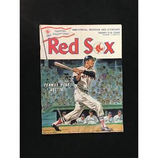 5 1967-1992 Red Sox Programs