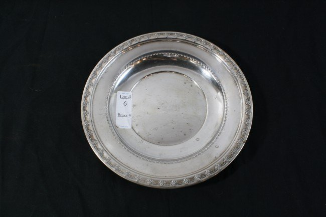 "6: Reed and Barton Sterling Bowl 11""  10.65 Troy Ounces"