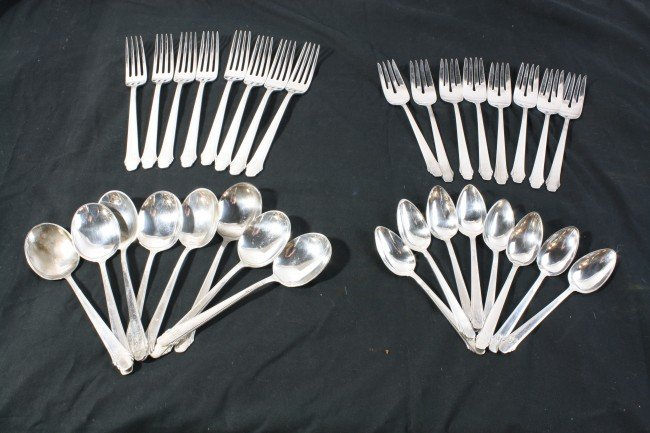 7: 53 Troy Ounces of Gorham Sterling Flatware