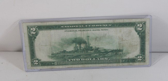1: 1918 $2 Federal reserve steamship note