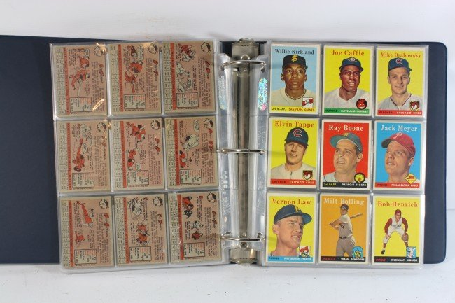 4A: Album of 274 1958 Topps cards XF-NMT