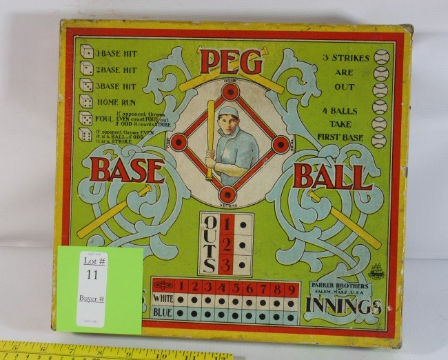 11: 1915 Peg baseball game in original box