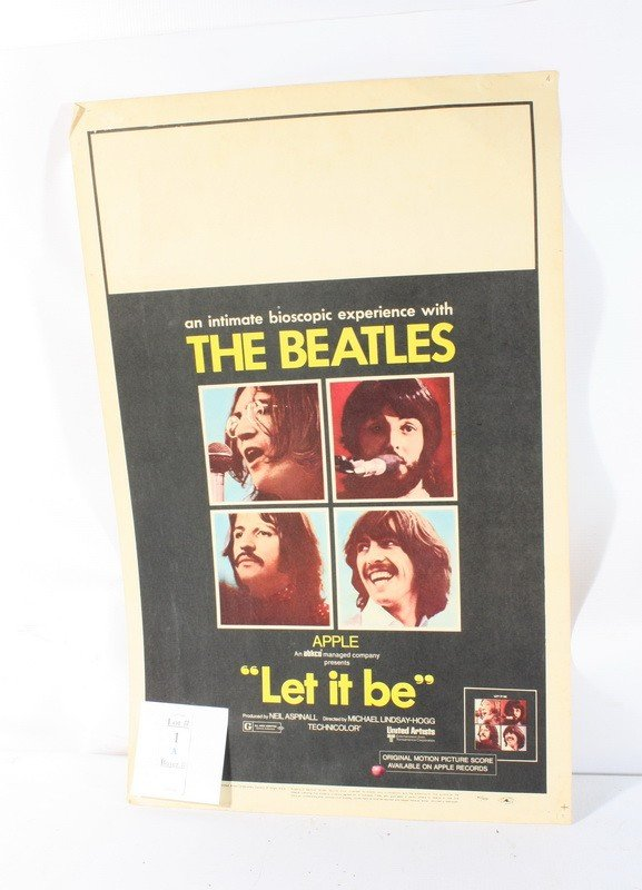 "1A: 1969 Original Beatles Movie Poster ""Let It Be"""