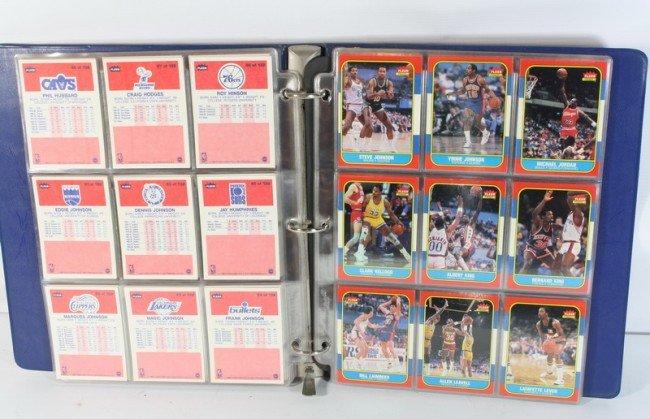 2A: Complete set of 1986 Fleer Basketball with Jordan R