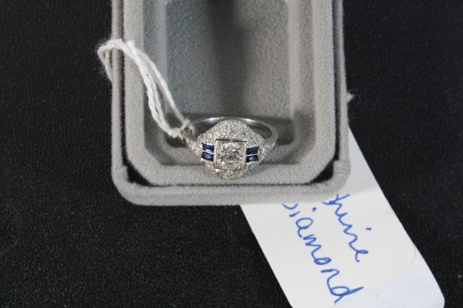 6: Beautiful 18kt. White Gold , Diamond and Sapphire an