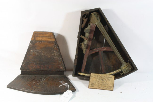 "16: Octant ""FW Lincoln Jr. and Co Boston circa 1839-188"