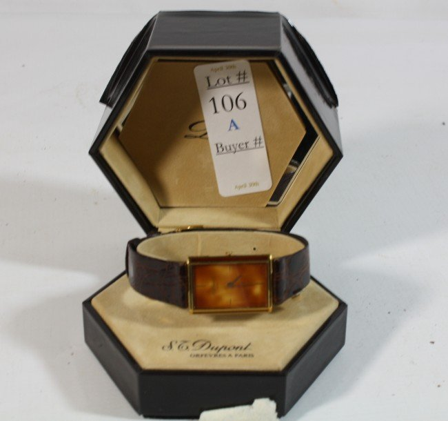 106A: ST Dupont of  Paris wrist watch