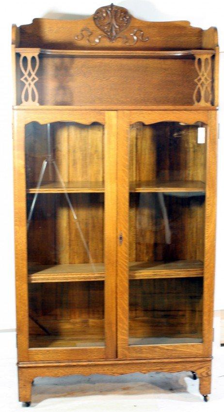 6A: Oak China Cabinet
