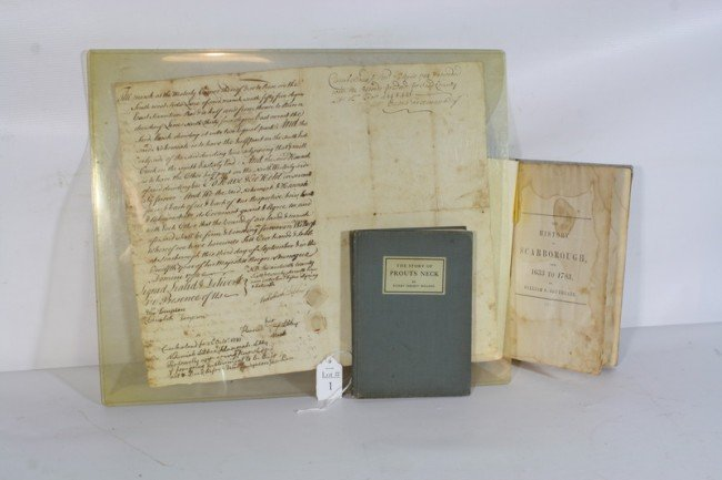1: 3 pc. Lot the History of Scarborough 1633-1783 by WI