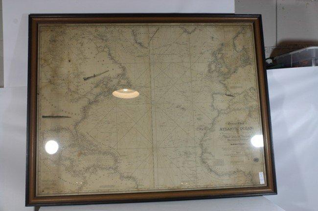 2: 1831 Atlantic Ocean Nautical Chart by John Purdy 50x