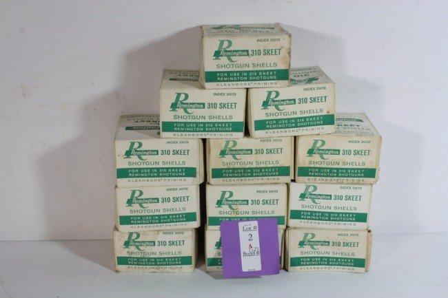 2A: 12 Boxes of Remington 310 Sheet Shotgun Shells