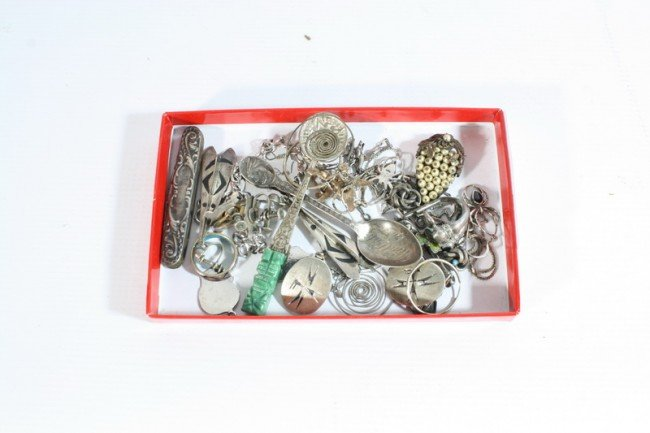 3A: Lot of sterling jewelry and other items