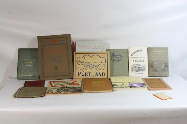 7A: Book lot with Portland Maine Books, etc.