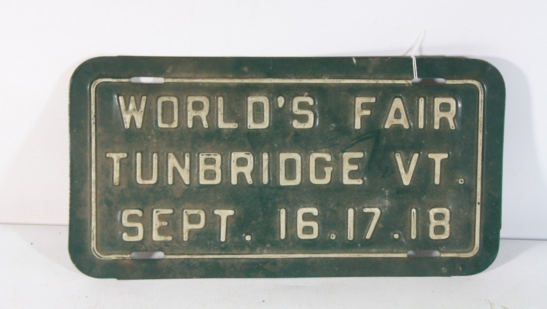 6: World's Fair Tunbridge Vermont Plate