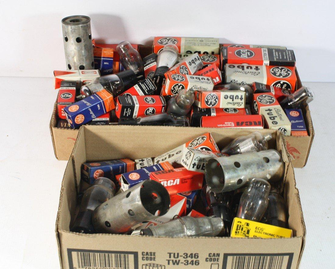 8: Large Lot of radio tubes
