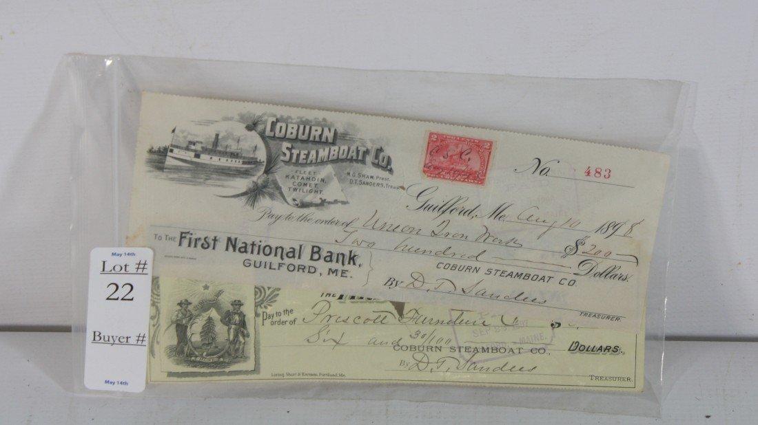 22: 1898 Steamboat Checks
