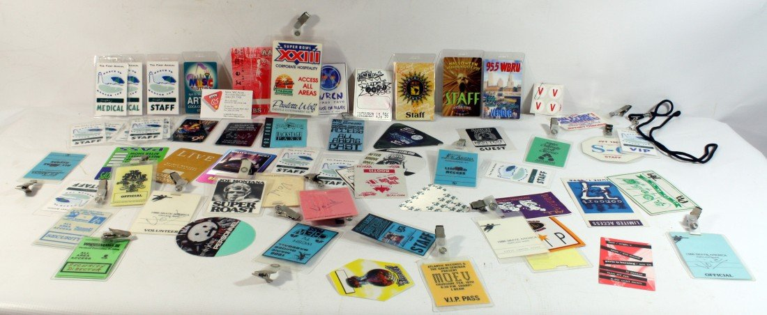 10: Backstage Passes: Large lot of backstage and access