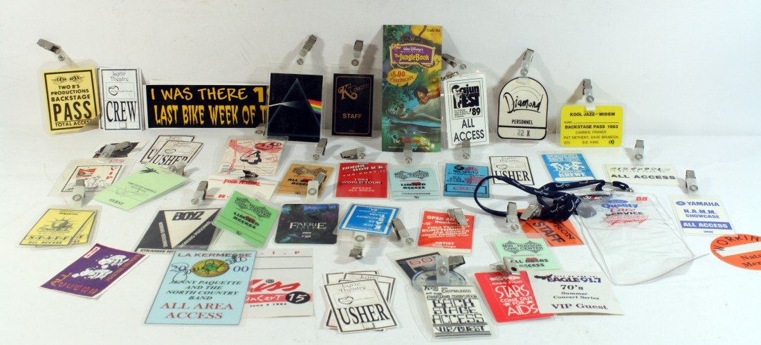 11: Backstage Passes: Large lot of passes from radio st