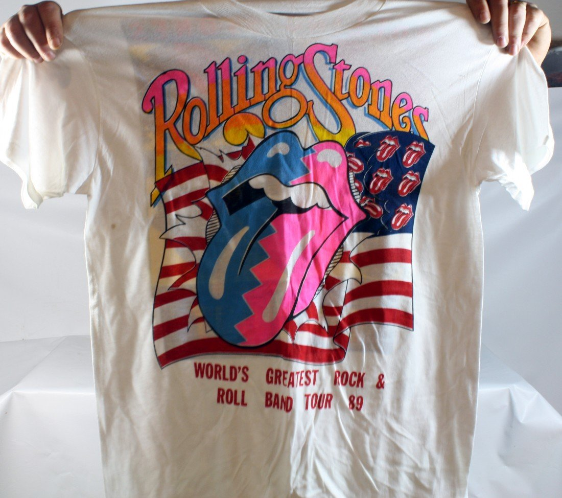 14: Lot of 10 Authentic Rolling Stones Concert T-Shirts