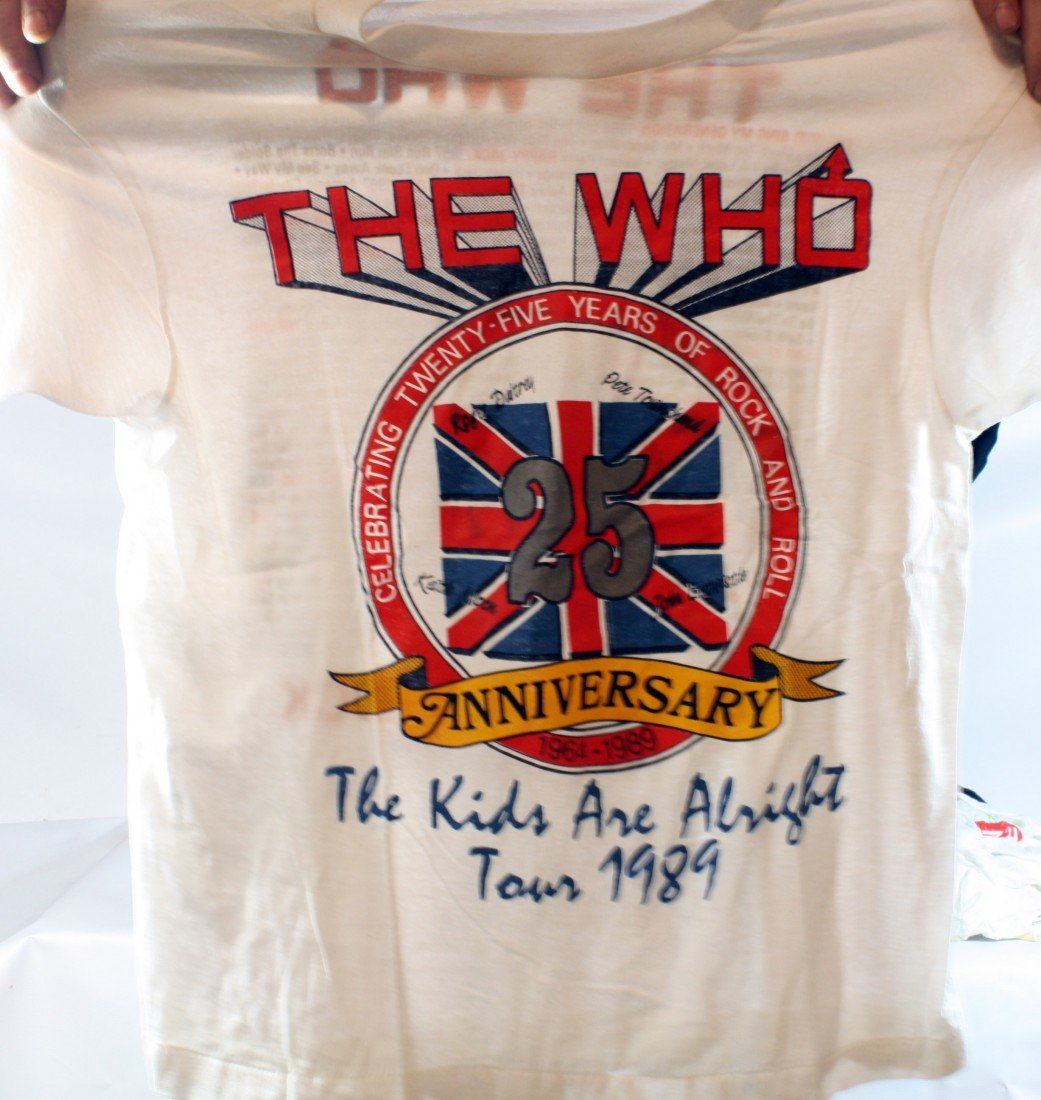 20: Lot of 10 Concert T-Shirts: The Who x2, Rolling Sto
