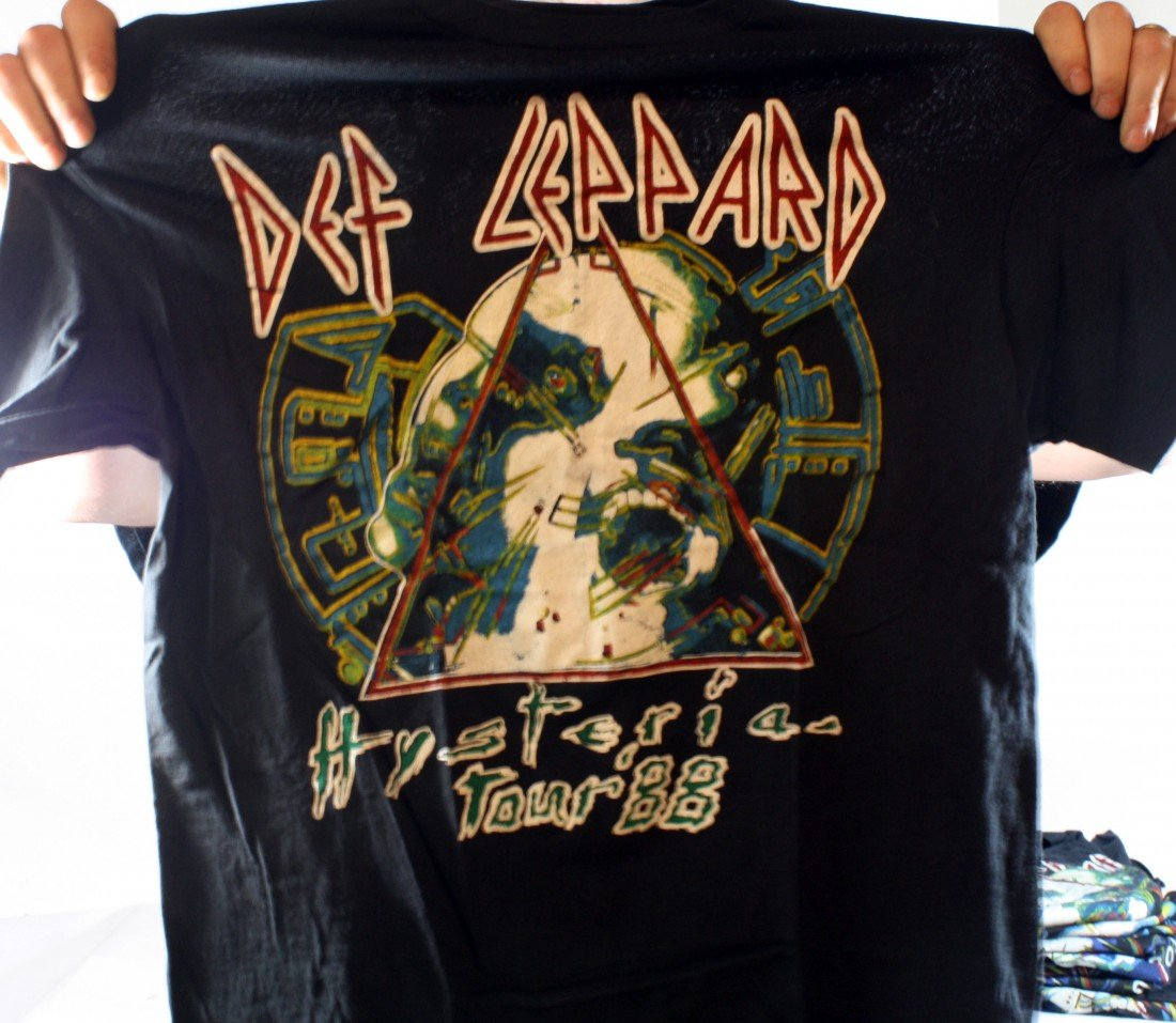 22: Lot of 10 Concert T-Shirts: All Def Leppard