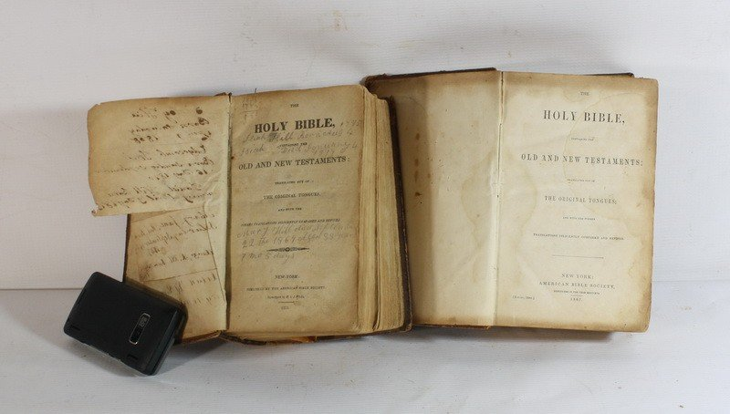 9: 2 Early bibles, 1821 and 1867