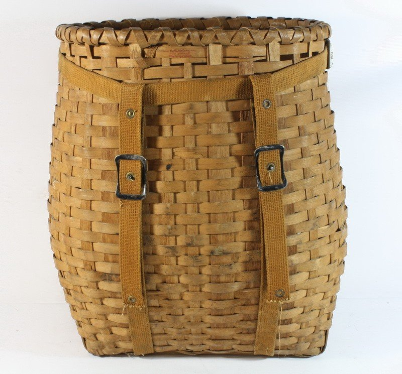 16: Excellent old pack basket with straps