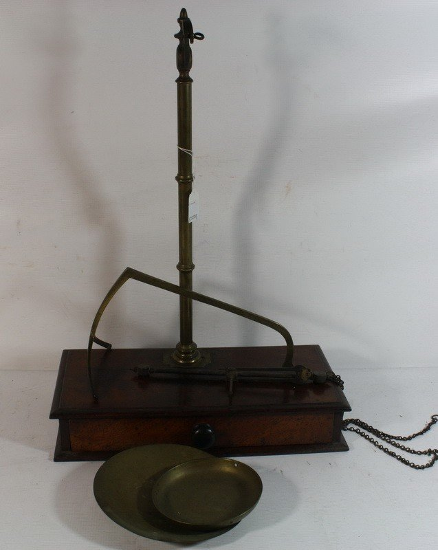 21: Mahogany and brass scale