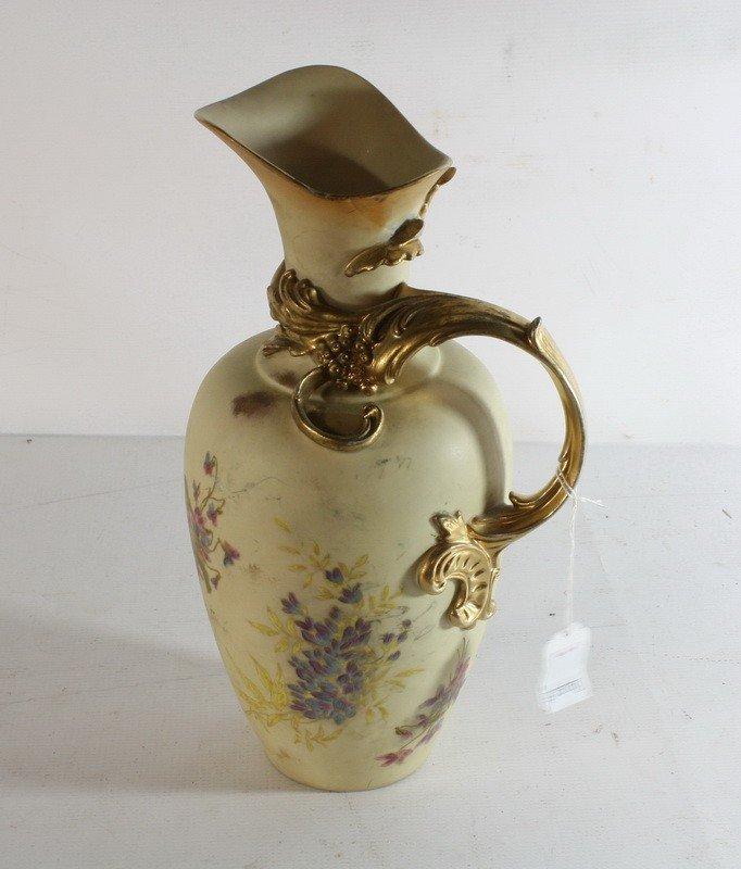 """22: Porcelain ewer 13"""" Rudolstadt Germany Royal Worcest"""
