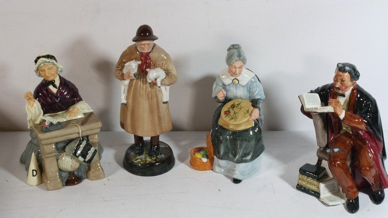 23: 4 Royal Daulton Figurines
