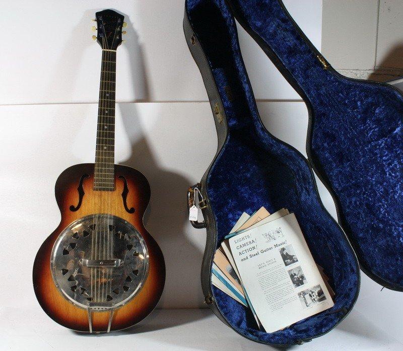 25: 1940's Harmony Sovereign Dobro Accoustic Guitar