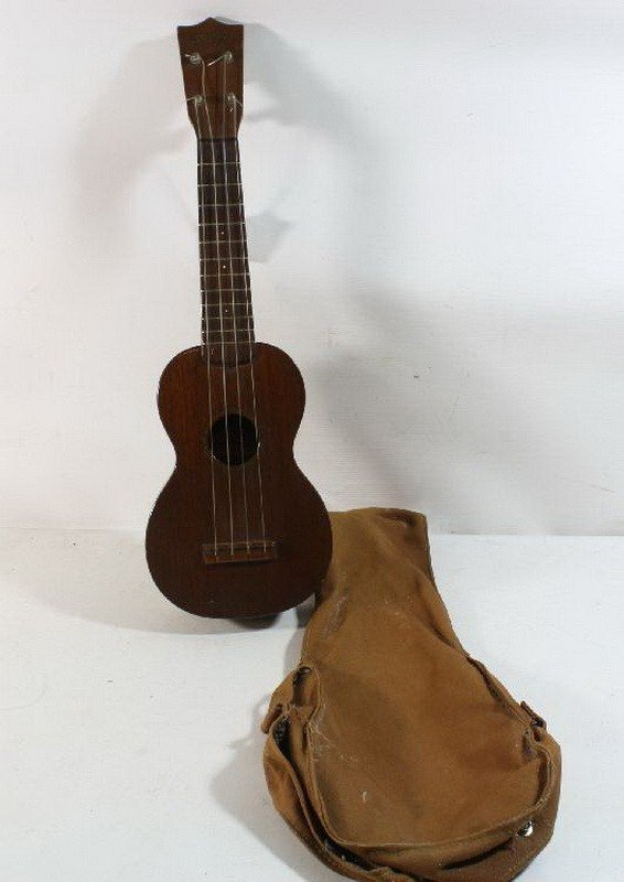 """44A: Ukulele 21"""" Martin and Company Stamp on Headstock"""