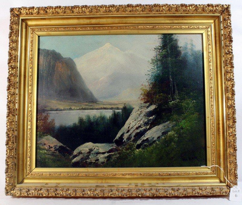 6: OOC landscape 20x15 signed Weber