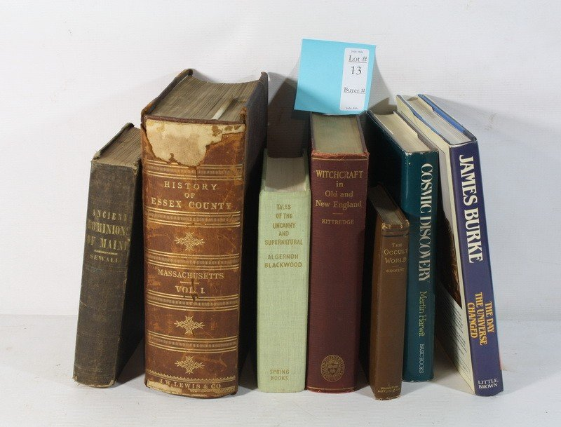 13: Book lot The Occult World, Witchcraft in Old New En
