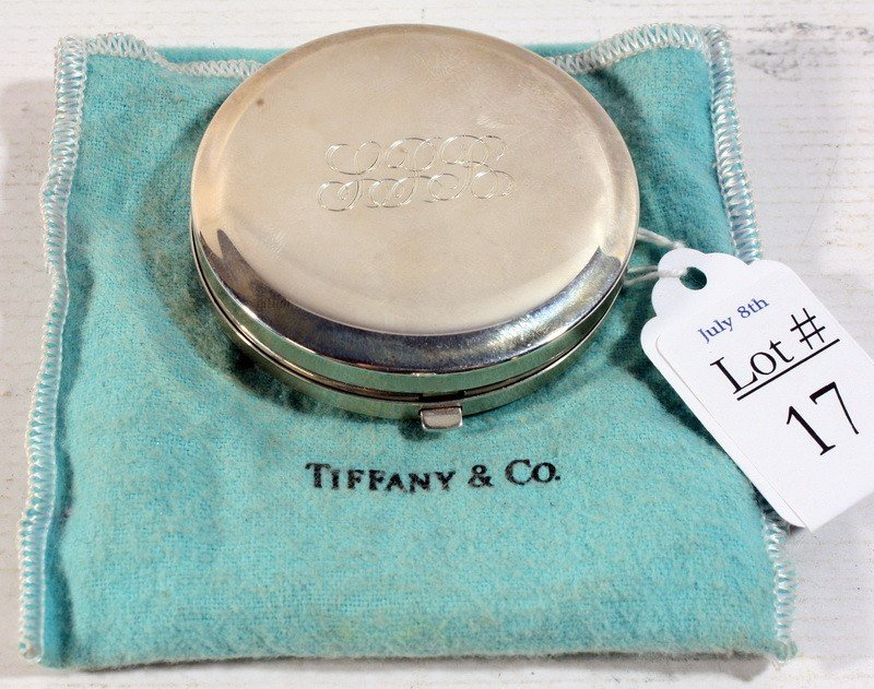 17: Tiffany and Company Sterling silver compact