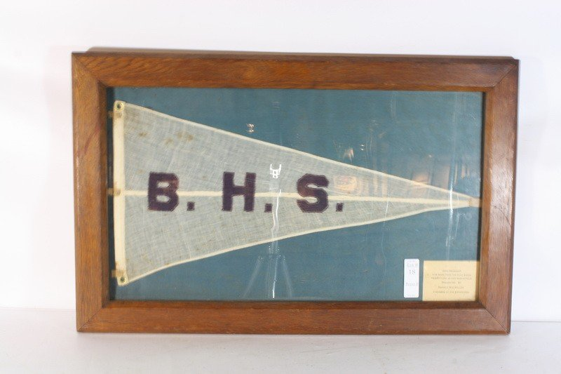 18: Pennant made from the flag flown by Admiral Byrd on