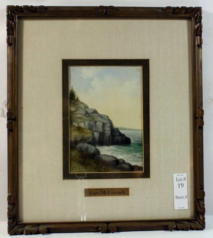 """19: OOB Seascape by Geo McConnell 5 1/2x8"""" in Frame"""