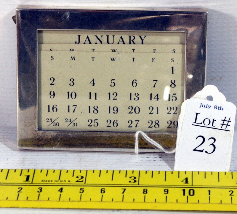 23: Tiffany and Company Sterling Silver Calendar holder