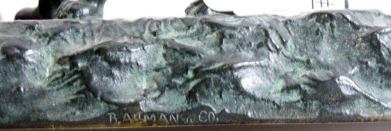 24: Bronze Lion Inkwell signed B. Altman Company